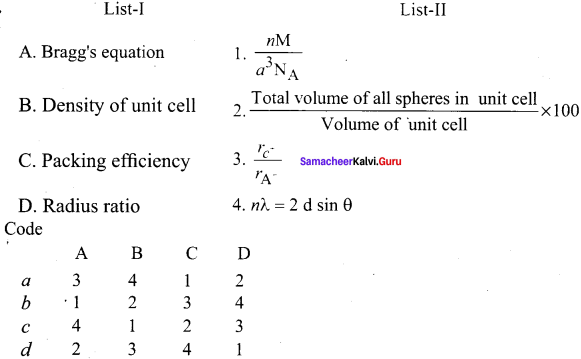 Samacheer Kalvi 12th Chemistry Solution Chapter 6 Solid State-29
