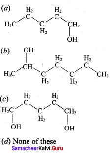 12th Chemistry Evaluate Yourself <br/>Answers Chapter 11 Hydroxy Compounds And Ethers Samacheer Kalvi