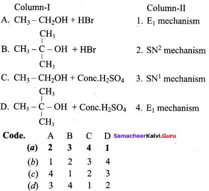 Samacheer Kalvi 12th Chemistry Solutions Chapter 11 Hydroxy Compounds and Ethers-130
