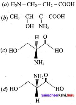 Samacheer Kalvi 12th Chemistry Solutions Chapter 14 Biomolecules-1