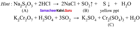12th Chemistry Lesson 4 Book Back Answers Transition And Inner Transition Elements Samacheer Kalvi