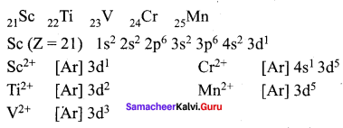 12th Chemistry Solutions Samacheer Kalvi Chapter 4 Transition And Inner Transition Elements