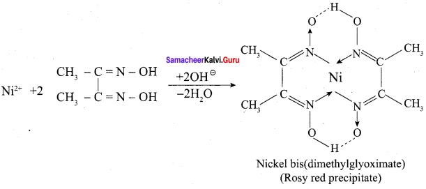 12th Chemistry Chapter 5 Book Back Answers Samacheer Kalvi Coordination Chemistry