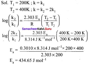 Samacheer Kalvi Guru Class 12 Chemistry Solutions Chapter 7 Chemical Kinetics
