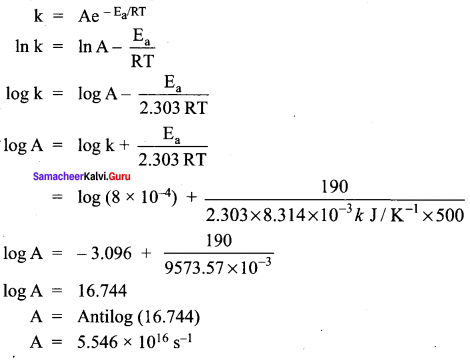 Samacheer Kalvi 12th Chemistry Solutions Chapter 7 Chemical Kinetics-104