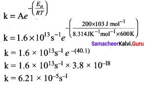Samacheer Kalvi 12th Chemistry Solutions Chapter 7 Chemical Kinetics-37