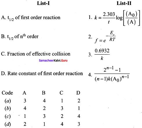 Samacheer Kalvi 12th Chemistry Solutions Chapter 7 Chemical Kinetics-63