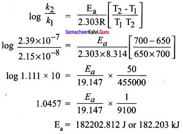 Samacheer Kalvi 12th Chemistry Solutions Chapter 7 Chemical Kinetics-86