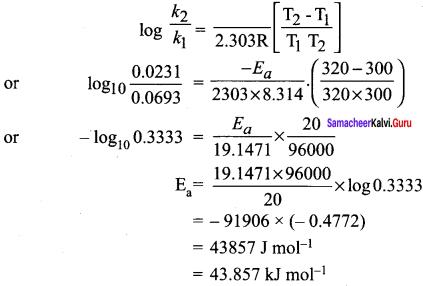 Samacheer Kalvi 12th Chemistry Solutions Chapter 7 Chemical Kinetics-92