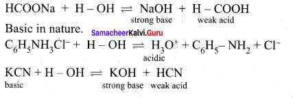 Class 12 Ionic Equilibrium Samacheer Kalvi Chemistry Solutions Chapter 8