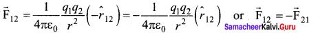 Samacheerkalvi.Guru 12th Physics Solutions Chapter 1 Electrostatics