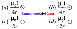 12th Physics 3rd Lesson Book Back <br/>Answers Samacheer Kalvi Magnetism And Magnetic Effects Of Electric Current