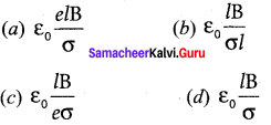 Magnetic Effect Of Electric Current Class 12 Numericals Pdf Samacheer Kalvi Chapter 3