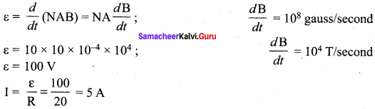 Samacheer Kalvi 12th Physics Solutions Chapter 4 Electromagnetic Induction and Alternating Current-75