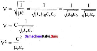 12th Physics Solutions Samacheer Kalvi Chapter 5 Electromagnetic Waves