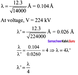 Samacheer Kalvi 12th Physics Solutions Chapter 7 Dual Nature of Radiation and Matter-1