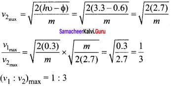 Samacheer Kalvi 12th Physics Solutions Chapter 7 Dual Nature of Radiation and Matter-11