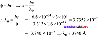 Samacheer Kalvi 12th Physics Solutions Chapter 7 Dual Nature of Radiation and Matter-14