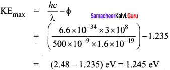 Samacheer Kalvi 12th Physics Solutions Chapter 7 Dual Nature of Radiation and Matter-15