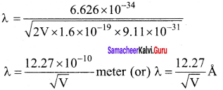 Samacheer Kalvi 12th Physics Solutions Chapter 7 Dual Nature of Radiation and Matter-33