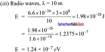 Samacheer Kalvi 12th Physics Solutions Chapter 7 Dual Nature of Radiation and Matter-39