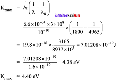 Samacheer Kalvi 12th Physics Solutions Chapter 7 Dual Nature of Radiation and Matter-45