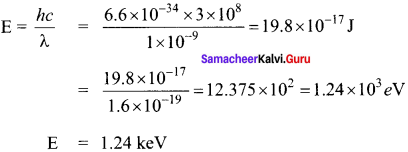 Samacheer Kalvi 12th Physics Solutions Chapter 7 Dual Nature of Radiation and Matter-54