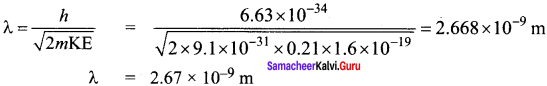 Samacheer Kalvi 12th Physics Solutions Chapter 7 Dual Nature of Radiation and Matter-6