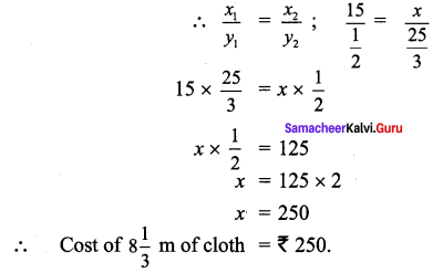 Samacheer Kalvi 7th Maths Solutions Term 1 Chapter 4 Direct and Inverse Proportion Ex 4.1 61