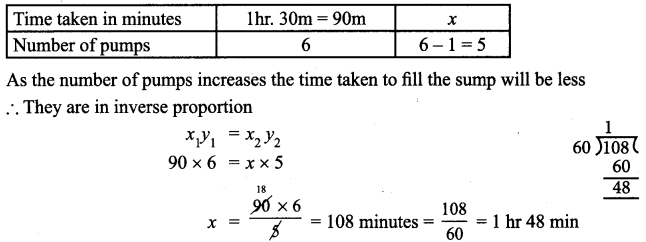 Samacheer Kalvi 7th Maths Solutions Term 1 Chapter 4 Direct and Inverse Proportion Ex 4.2 1