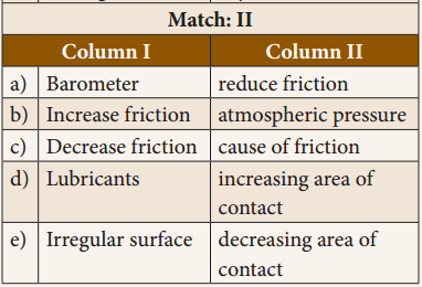 Force And Pressure Class 8 Book Back Answers Samacheer Kalvi Term 1 Chapter 2
