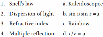 Light Book Back Answers Samacheer Kalvi 8th Science Solutions Term 1 Chapter 3
