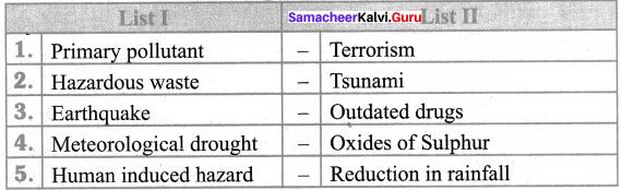 Define Hazard Samacheer Kalvi 8th Social Science Geography Solutions Term 2 Chapter 2
