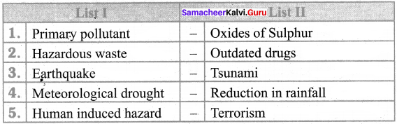 Hazards May Lead To Answer Samacheer Kalvi 8th Social Science Geography Solutions Term 2 Chapter 2