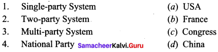 Election Political Parties And Pressure Groups Questions And Answers Samacheer Kalvi 9th Social Science Civics Solutions Chapter 2