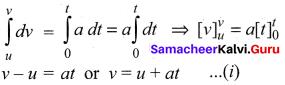 Samacheer Kalvi 11th Physics Solution Book Chapter 2 Kinematics