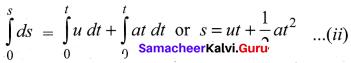 Samacheer Kalvi Physics 11th Physics Solutions Chapter 2 Kinematics