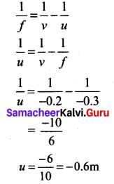10th Science Optics Lesson Samacheer Kalvi Science Solutions Chapter 2