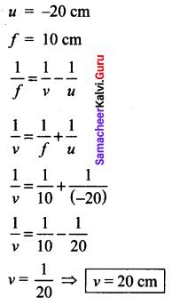 Samacheer Kalvi 10th Science Solution Chapter 2 Optics