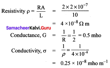 10th Science Electricity Lesson Book Back Answers Samacheer Kalvi Solutions Chapter 4