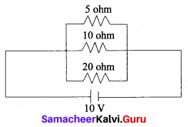 Electricity Class 10 Book Back Answers Samacheer Kalvi Science Solutions Chapter 4 Electricity
