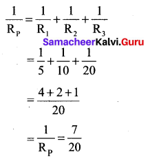 Electricity Book Back Answers Samacheer Kalvi 10th Science Solutions Chapter 4