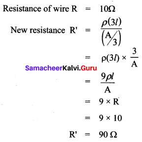 Numericals On Ohm's Law Class 10 Samacheer Kalvi Chapter 4 Electricity