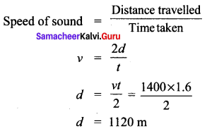 10th Science Acoustics Samacheer Kalvi Solutions Chapter 5