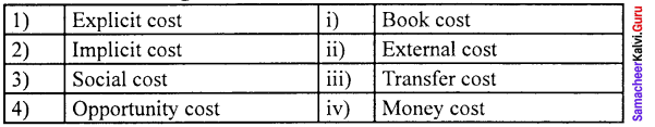 Samacheer Kalvi 11th Economics Solutions Chapter 4 Cost and Revenue Analysis 8