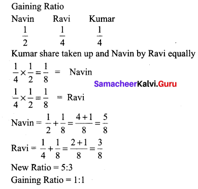 Samacheer Kalvi 12th Accounts Guide Solutions Chapter 6 Retirement And Death Of A Partner