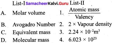 Tamil Nadu 11th Chemistry Model Question Paper 2 English Medium image - 1
