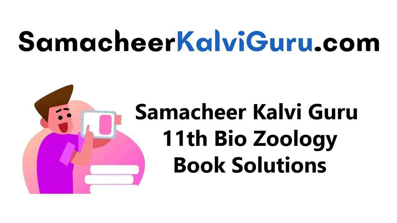 Samacheer Kalvi Guru 11th Bio Zoology Guide Book Back Answers Solutions
