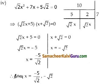 Samacheer Kalvi 10th Maths Guide Chapter 3 இயற்கணிதம் Ex 3.10 1