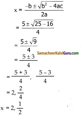 Samacheer Kalvi 10th Maths Guide Chapter 3 இயற்கணிதம் Ex 3.11 2